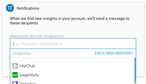 Insights notifications