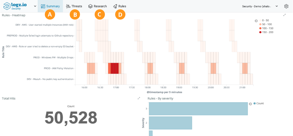 Logz.io Security Analytics